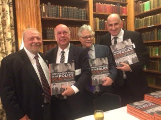 The authors with bestselling novelist Nelson DeMille at the Union League Club.
